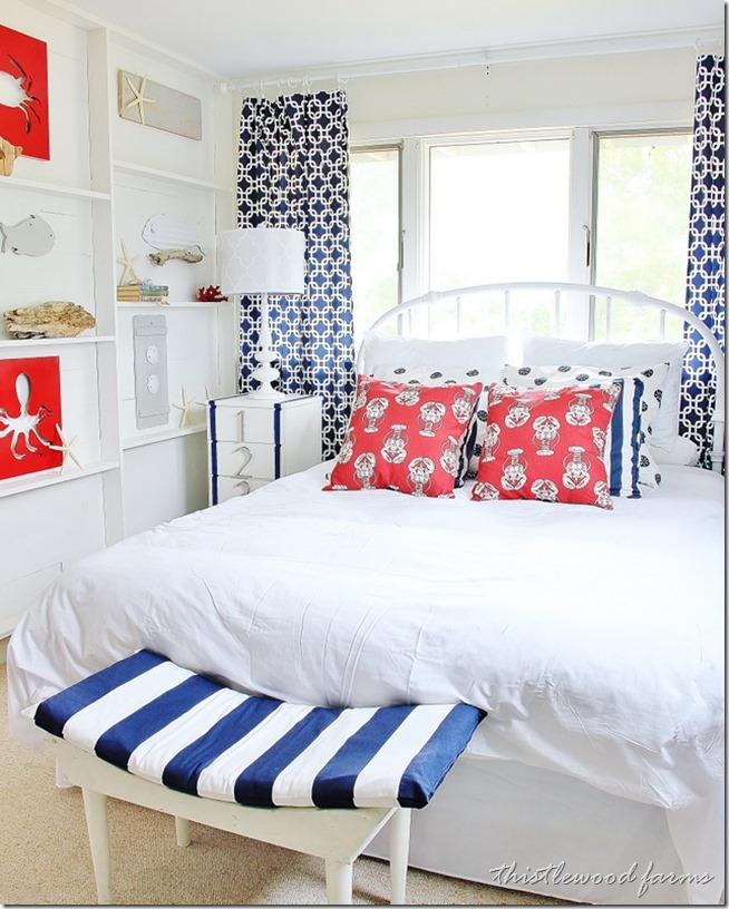 10 Beach House Decor Ideas: Ten Patiotic Rooms With A Nautical Twist!
