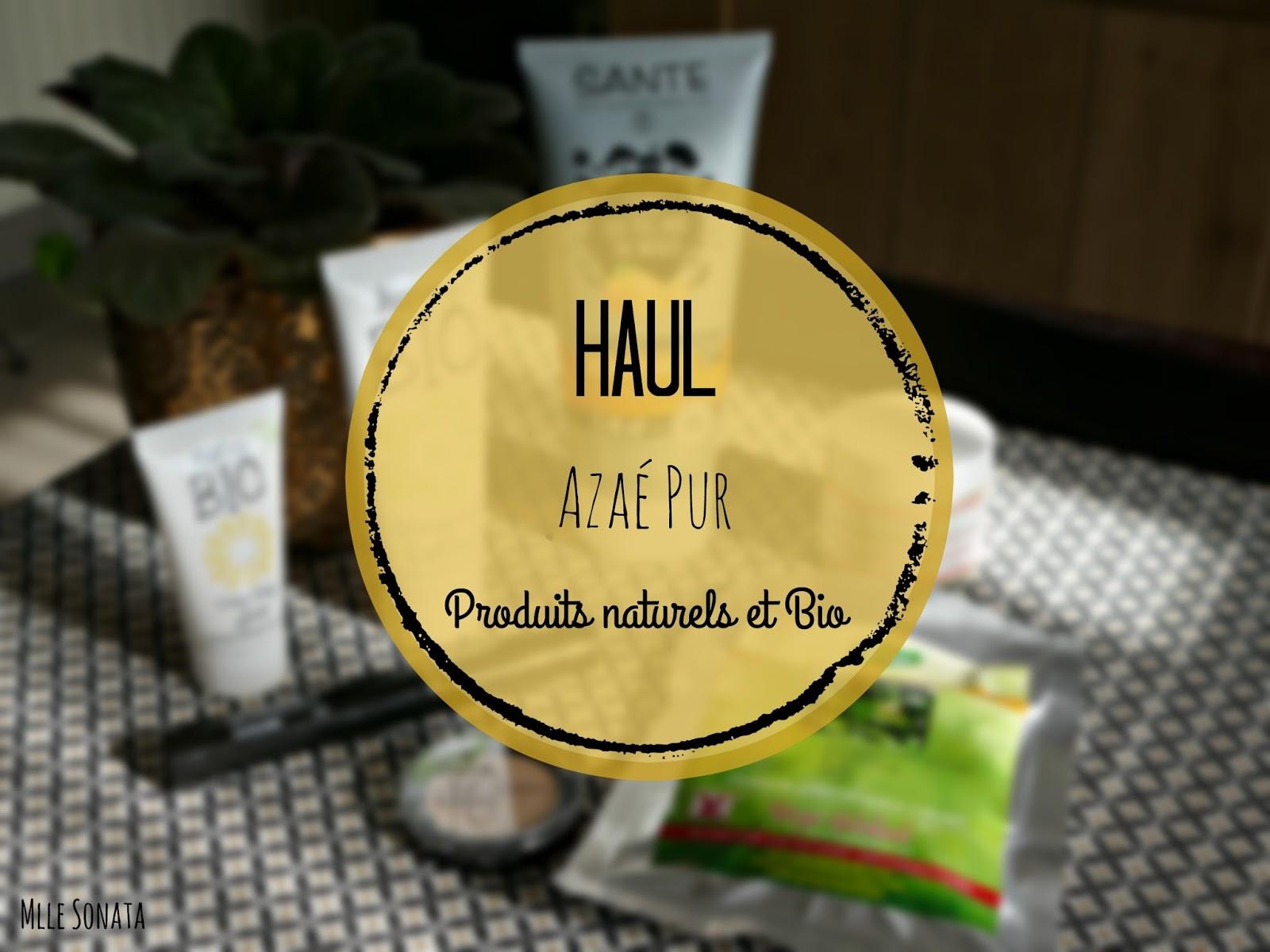 Haul Azaé Pur: site de produits naturels et bio.