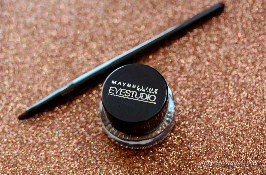 Scrangie: Maybelline EyeStudio Lasting Drama 24 Hour Gel Eyeliner Swatches and Review