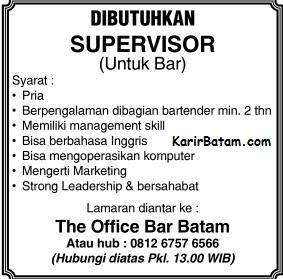 Lowongan Kerja PT. Office Bar Batam Indonesia