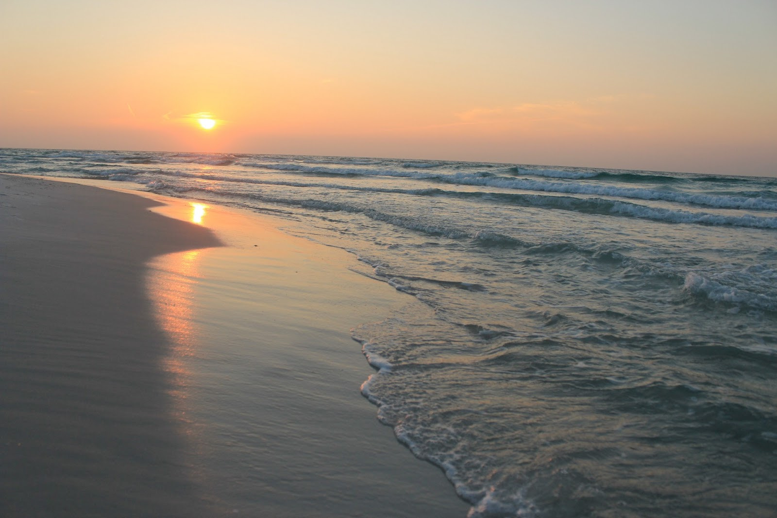 Sunrise Along Pensacola Beach Fl Over The Gulf Of Mexico In Florida Panhandle