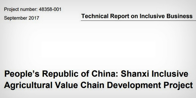 Also, read; Technical Report on Inclusive Business (Project number: 48358-001) September 2017  People's Republic of China: Shanxi Inclusive Agricultural Value Chain Development Project