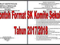Downlaod Contoh Format SK Komite Sekolah Semua Jenjang Tahun Ajaran 2017/2018