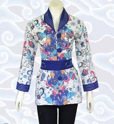 Contoh Model Baju Batik Atasan wanita
