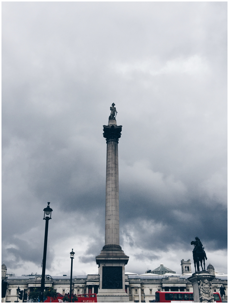 travel diary, london, trafalgar square