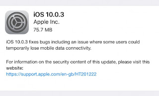 Apple iOS 10.0.3