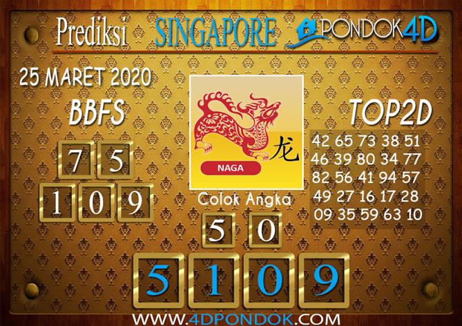 Prediksi Togel SINGAPORE PONDOK4D 25 MARET 2020