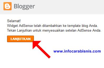 Widget Adsense telah ditambahkan ke template blog