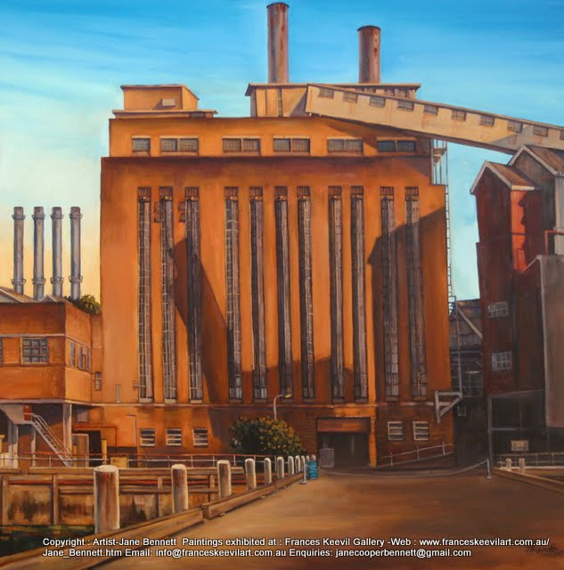 oil painting of the CSR by Jane Bennett