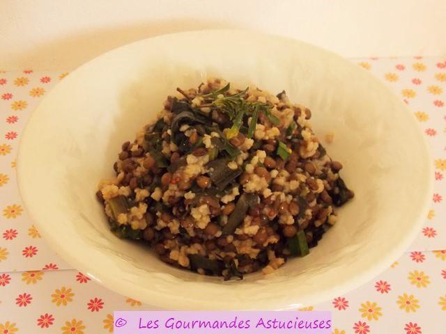 Cocotte de lentilles au millet vegan - Comment cuisiner les lentilles vertes ...