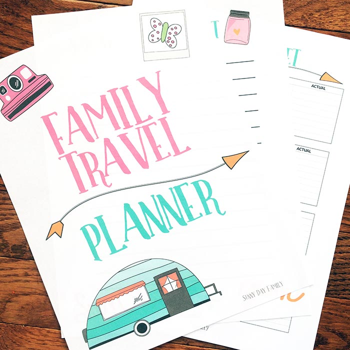 The Ultimate Printable Vacation Planner for Families | Sunny Day ...