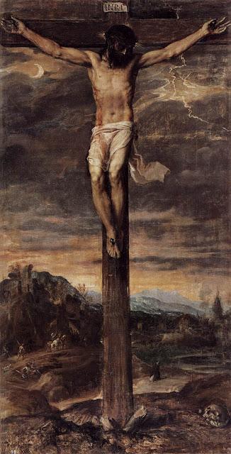 «Ο Χριστός πάνω στον Σταυρό» του Τιτσιάνο έπεσε από τον τοίχο σε Βασιλικό Μοναστήρι της Ισπανίας και σχίστηκε