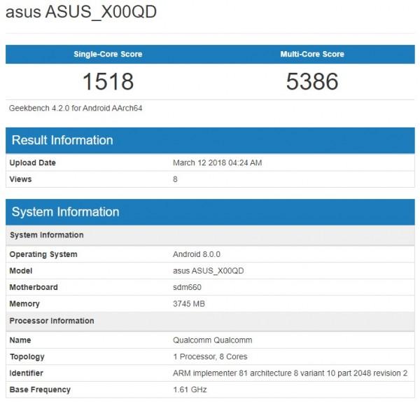 Muncul Ponsel Baru Asus Zenfone 5 Max Dengan RAM 4GB Di
