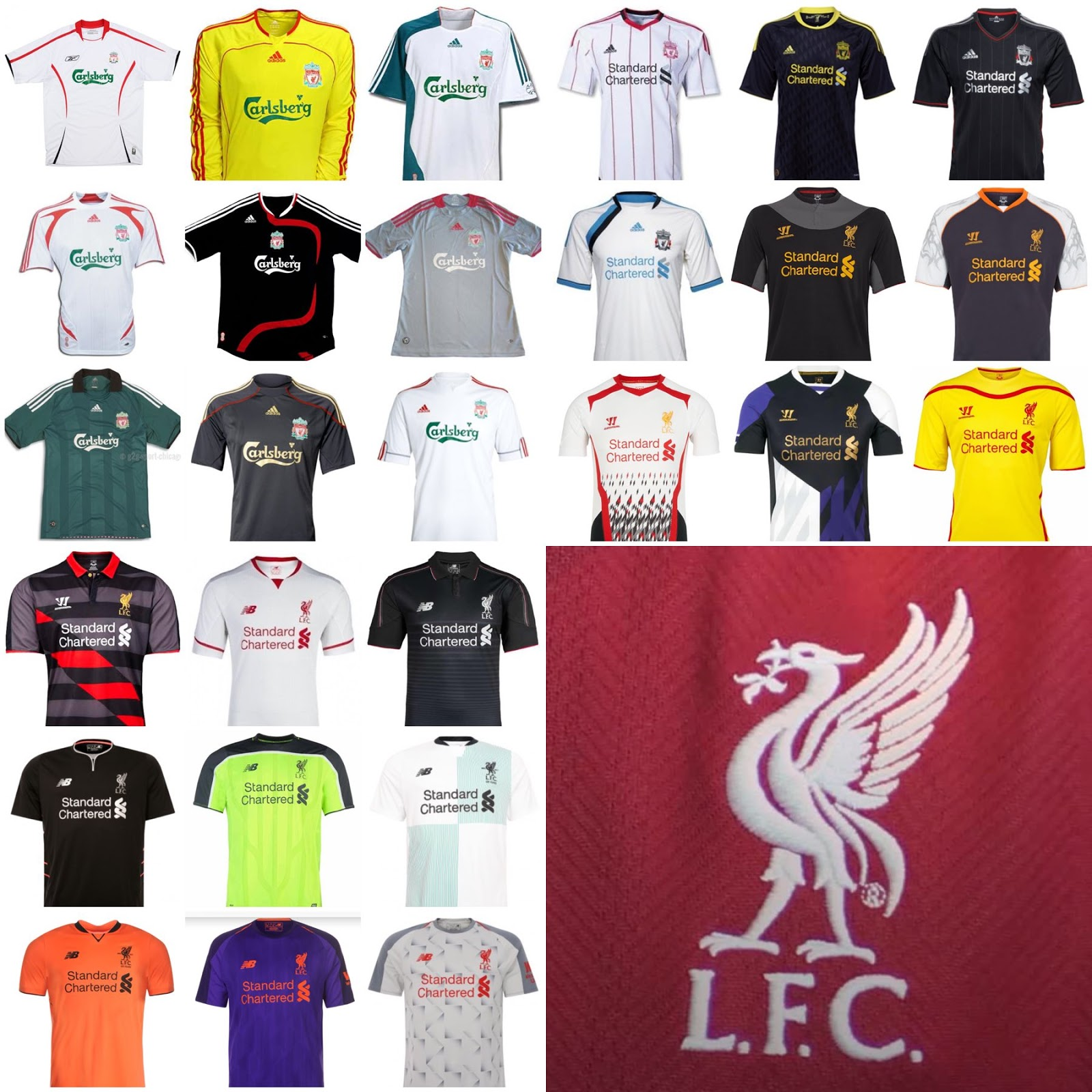 Which Is The Best   Worst  Here All 27 Liverpool Away   Third Kits Of The  Past 14 Years 9bea659af