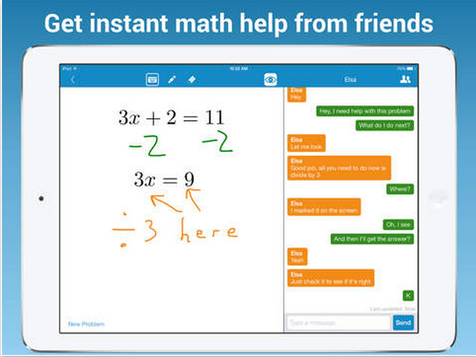 MathChat App Allows Students to Collaborate on Math Homework