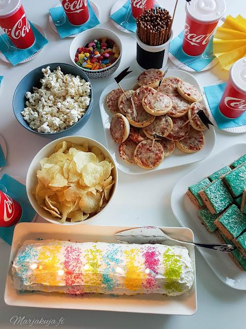 kakku sateenkaarirulla dr oetker neon rae syntymäpäivä juhla party