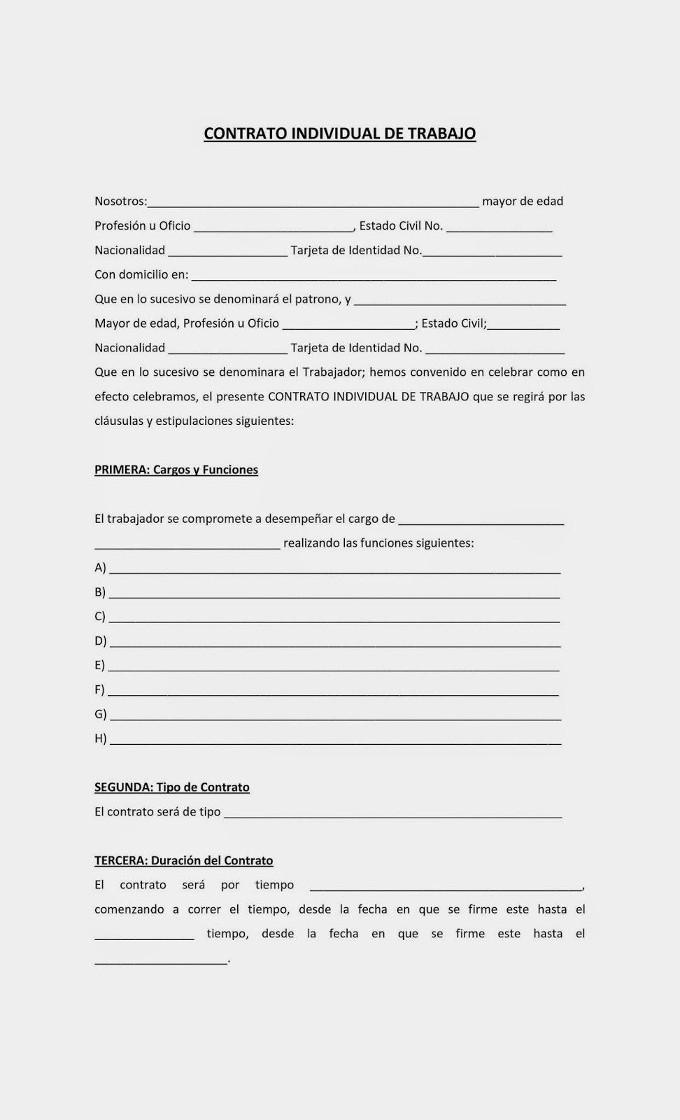 Admon Rec Hum Modulo V Submodulo Ii Contrato Individual De Trabajo