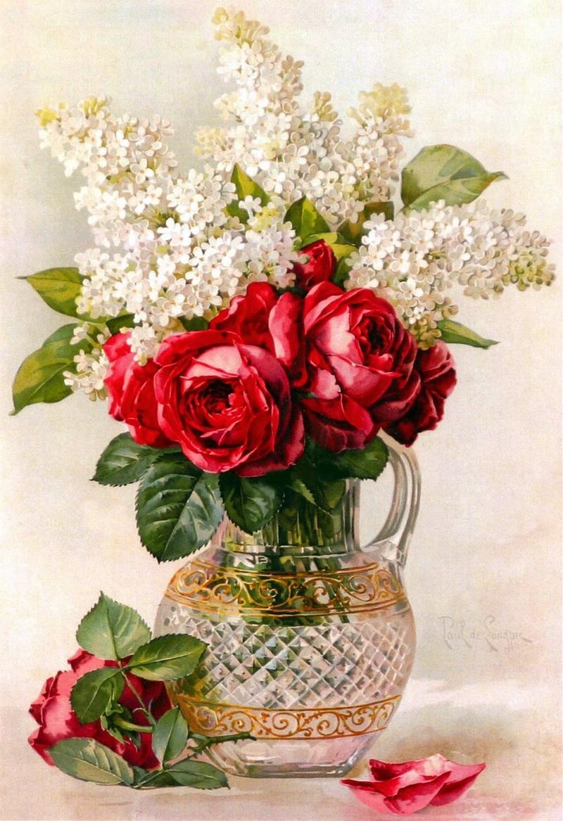 Paul De Longpre Summer Fragrance Tutt Art Pittura