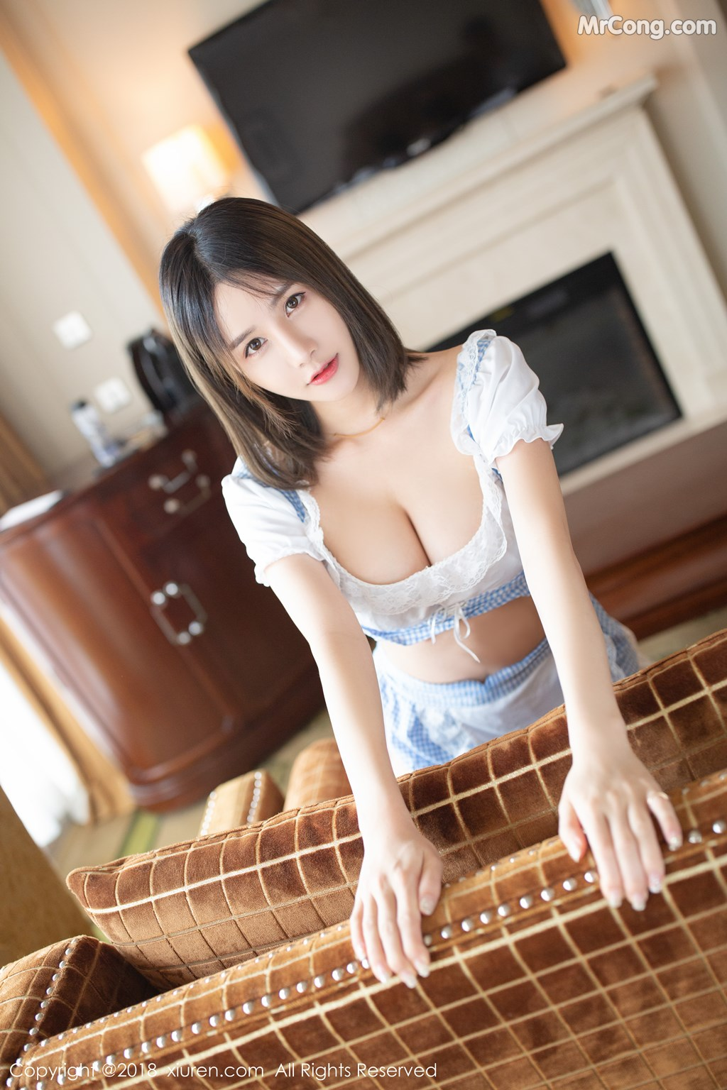 Image XIUREN-No.1261-Xiao-Mo-Lin-MrCong.com-014 in post XIUREN No.1261: Người mẫu Xiao Mo Lin (小沫琳) (41 ảnh)