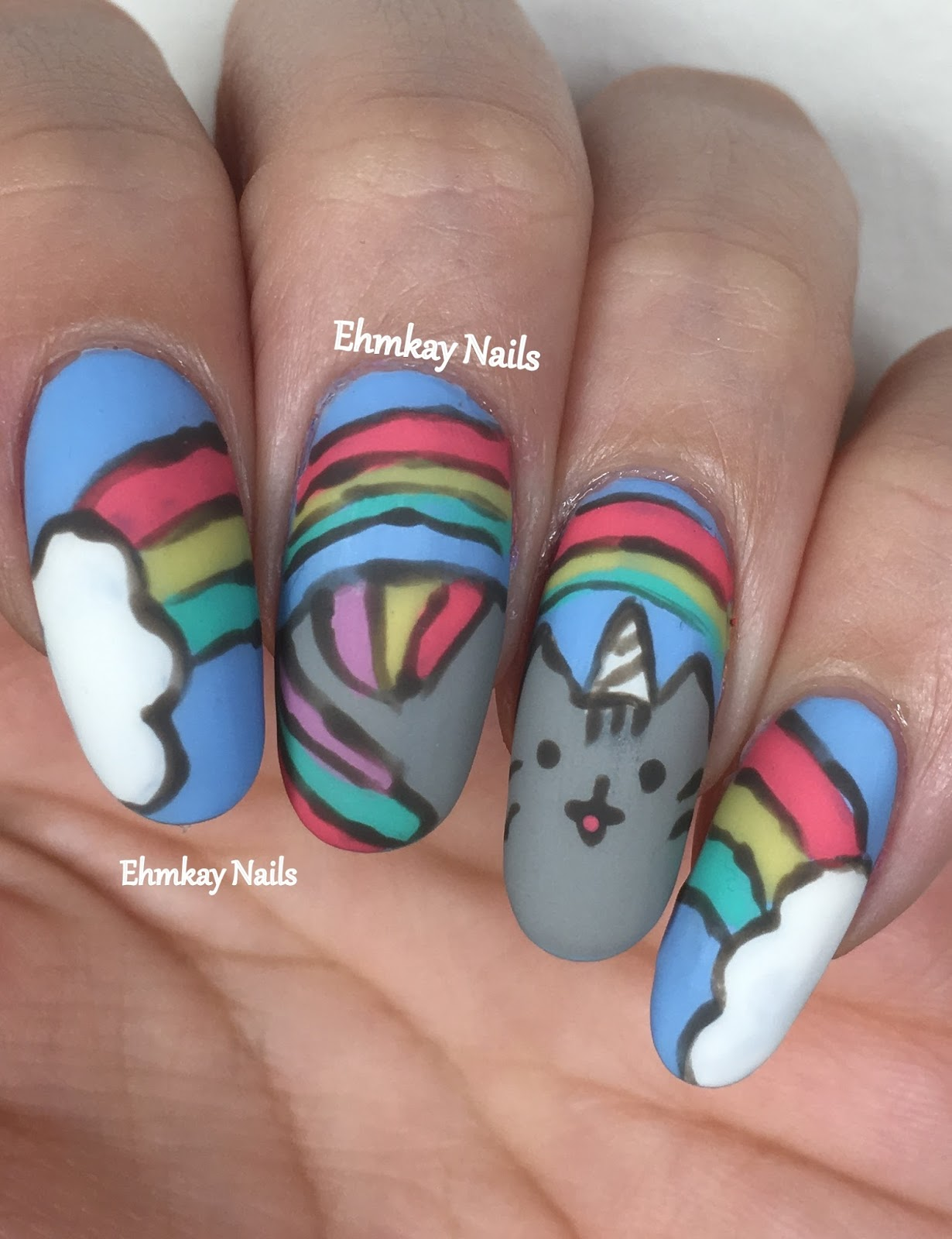 Ehmkay Nails: Pusheen Calender Series: April 2017
