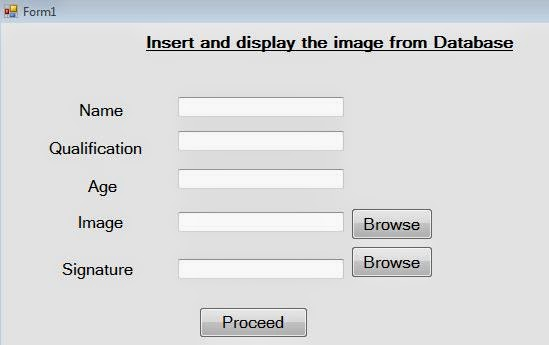 How to Save Image in database and display in PictureBox