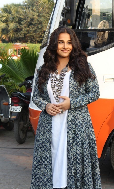 Actress Vidya Balan Long Hair at Movie Promo Shoot