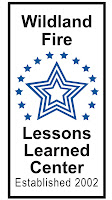 Wildland Fire Lessons Learned Center logo - three concentric blue stars surrounded by 14 solid blue stars