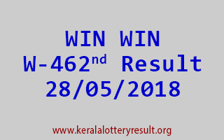 WIN WIN Lottery W 462 Result 28-05-2018