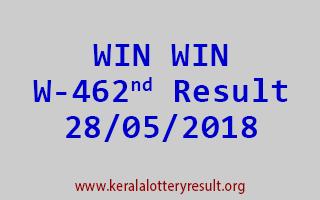 WIN WIN Lottery W 462 Result 28-05-2018