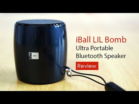 1. iBall LIL Bomb 70 – Ultra Portable Bluetooth Speaker With Mic