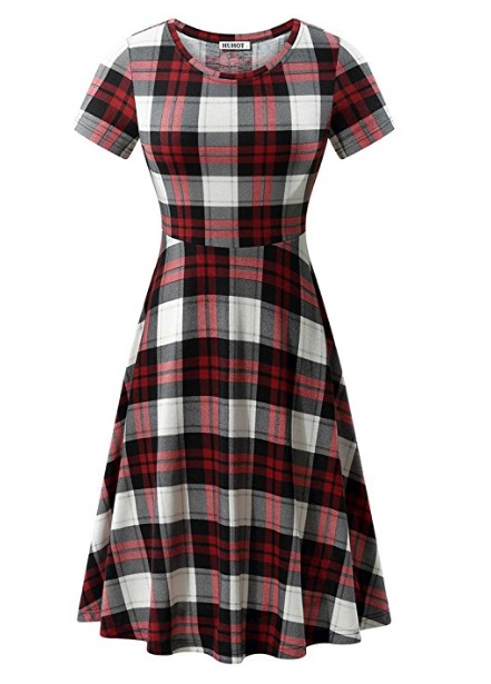 plaid dress 90s fashion grunge outfit