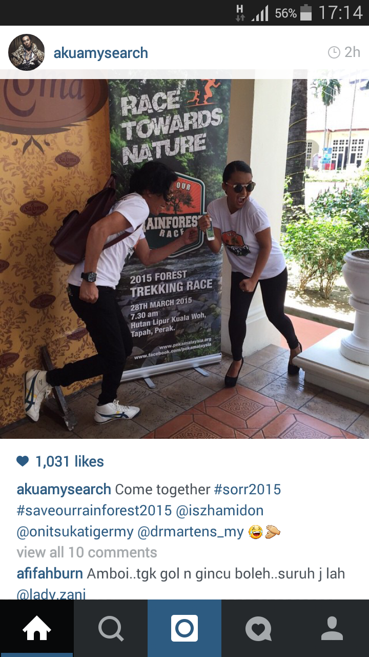 Nabila & Amy Search Sertai Rainforest Race 2015