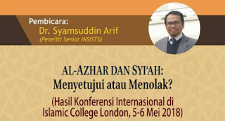 """Hadirilah Seminar """"Al Azhar dan Syiah: Menyetujui atau Menolak"""" di Jakarta"""