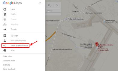 Cara Memasang Google Map di Postingan Blog