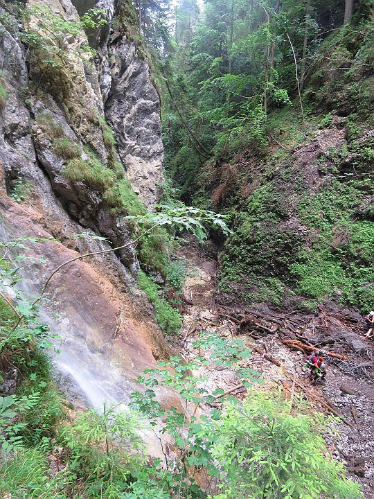 Kyseľ. Obrovský vodopád. Via ferrata.