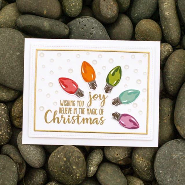 Sunny Studio Stamps: Merry Sentiments Customer Card by Amy Copeland