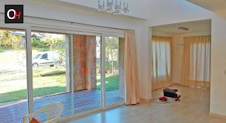 Alta gama en aberturas de pvc instaladas en vivienda de Pinamar