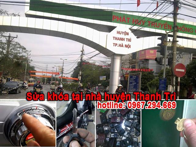 Làm chìa khóa sửa khóa tại nhà huyện Thanh Trì