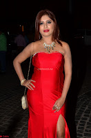 Sejal Jen Shah in Strapless Sleeveless Deep neck Red Gown at 64th Jio Filmfare Awards South ~  Exclusive 002.JPG