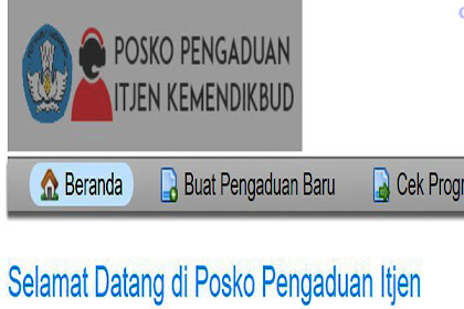 Posko Pengaduan ITJEN Aplikasi Kemendikbud
