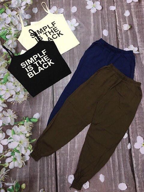 set áo dây phối quần dài alibaba thời trang đẹp