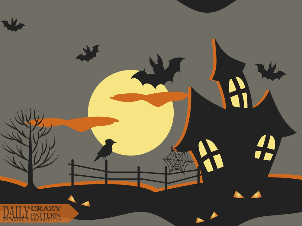 "Halloween art print for ""Daily Crazy Pattern"" project"