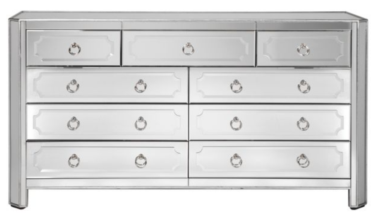 Horchow Logan Large Mirrored Chest Copycatchic