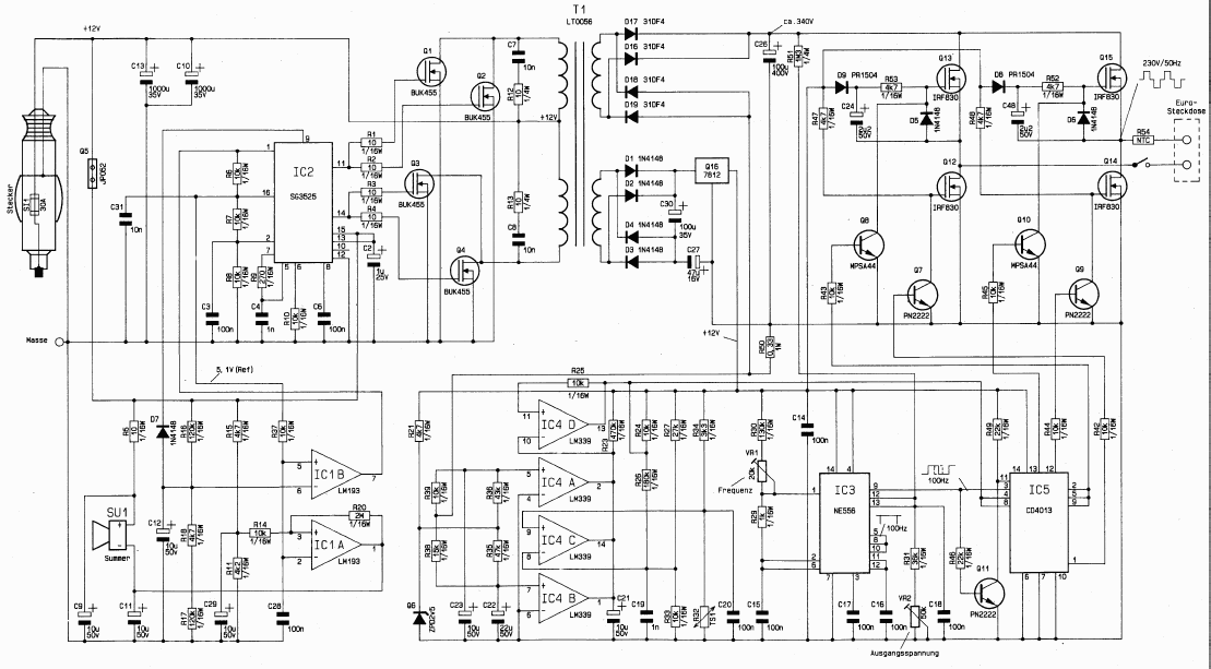 Tool Electric: Автомобильный инвертор 12-220 вольт 800