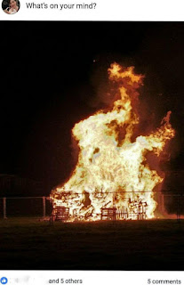 The minicipal bonfire on 5 November