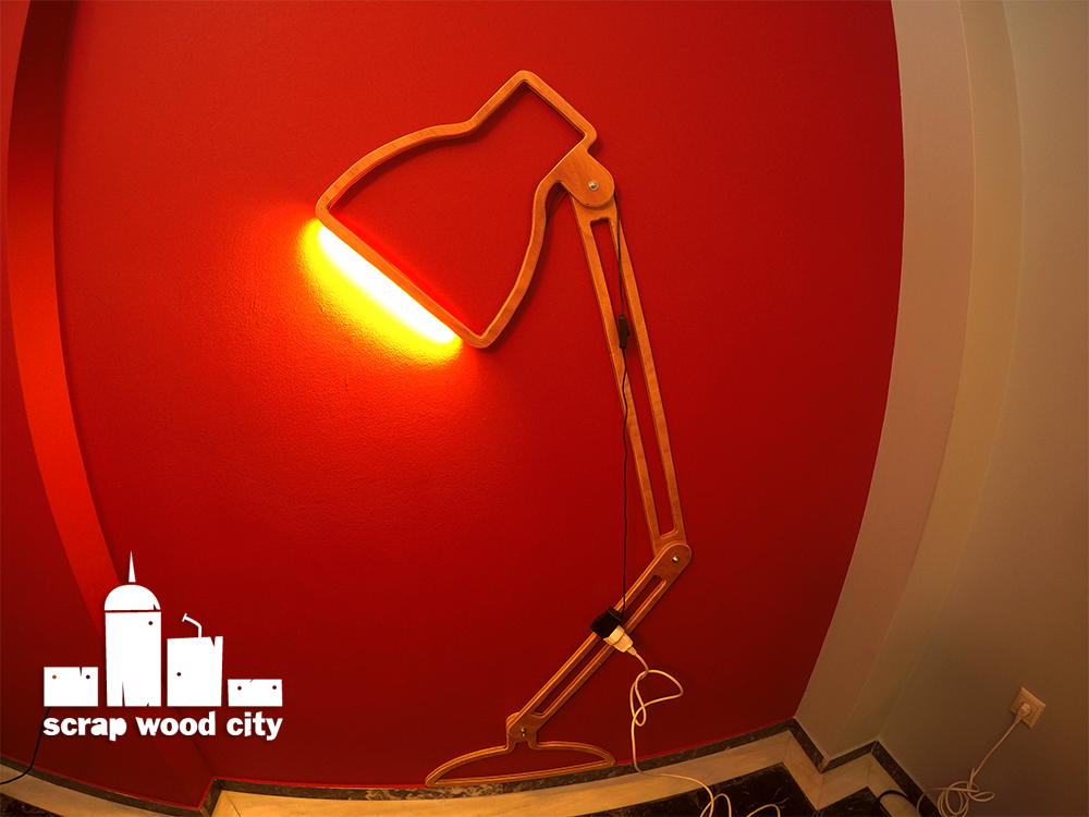 scrap wood city: How I made a creative led strip wall lamp ...