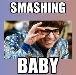 Meme Austin Powers Smashing Baby
