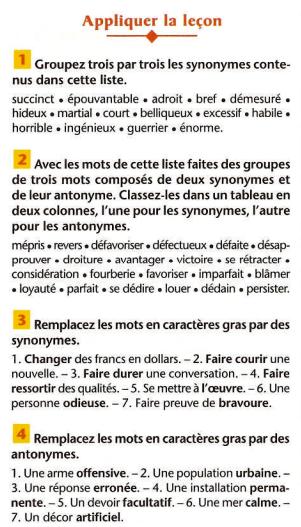 Homonymes, synonymes, antonymes, paronymes | lezioni di