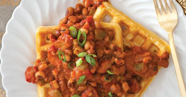 Black Eyed Pea Ragu with Cornbread Waffles Recipe