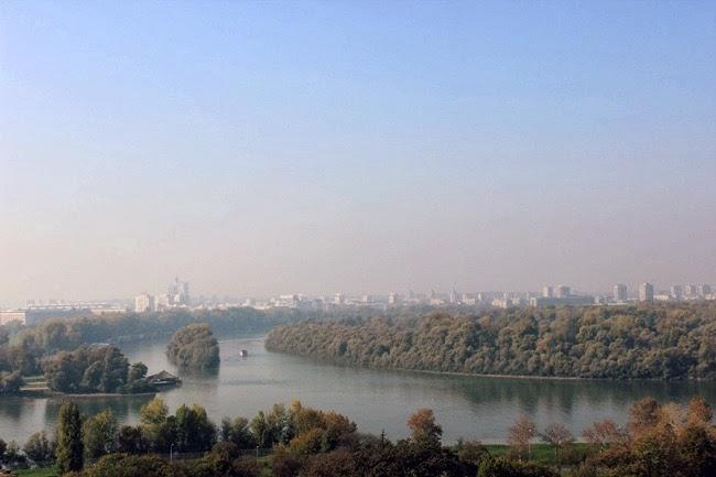 Kalemegdan Park Danube river